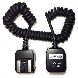 METZ TCC-20 / Nikon cable TTL spiralé 1,80m