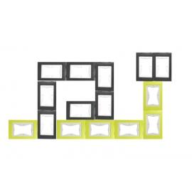 KIT cadres puzzle L'ESCARGOT 15pcs (6xVert + 9xGris)