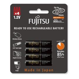 FUJITSU - Blister 4 Piles Rechargeables AAA - NiMh - High Capacity