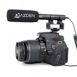 AZDEN - Microphone SMX10 directionnel stereo avec prise Jack 3.5mm
