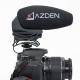 AZDEN - Microphone SMX30 Vidéo pro mono/stéréo avec prise Jack 3.5mm