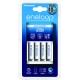 ENELOOP - Chargeur Eco + 4 piles LR03-AAA