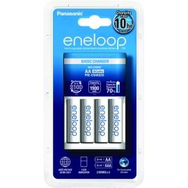 ENELOOP - Chargeur Eco + 4 piles LR06-AA