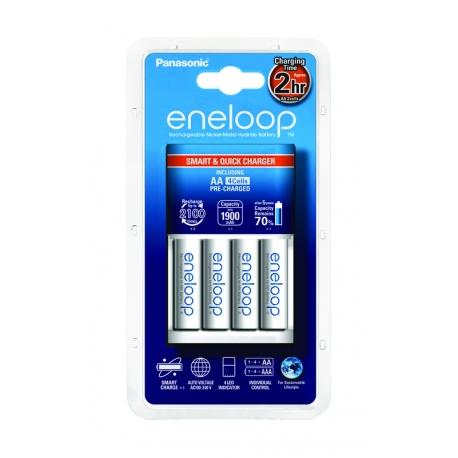 ENELOOP - Chargeur Rapide + 4 piles LR06-AA