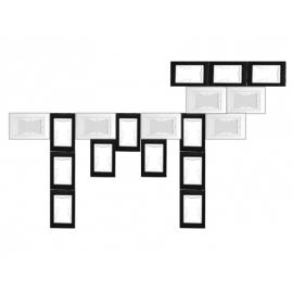 KIT cadres puzzle LA VACHE 18pcs (12xNoir + 6xBlanc)