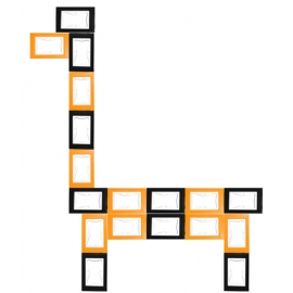 KIT cadres puzzle LE LAMA 18pcs (9xOrange + 9xNoir)