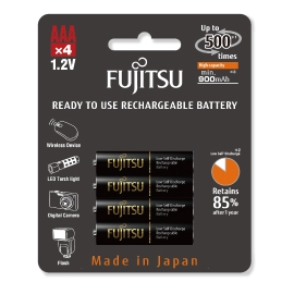 FUJITSU - Blister 4 Piles Rechargeables AAA - NiMh - High Capacity
