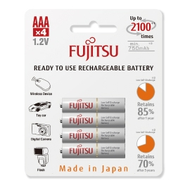 FUJITSU - Blister 4 Piles Rechargeables AAA - NiMh