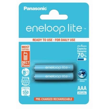 ENELOOP LITE - Blister de 2 piles rechargeables LR003 - 550mAh