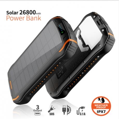 Powerbank à charge solaire fixe 1 panneau