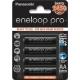 ENELOOP PRO - Blister 4 Piles AA - NiMh - 2500mAh (piles noires)